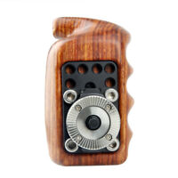 US Stock Wooden Handle Left with ARRI Rosette for Sony Nikon Canon Camera Cage