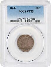 1876 20c PCGS VF25 - Desirable 20-Cent Piece - 20-Cent Piece