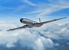 De Havilland Comet 4 BOAC Airliner Plane Aviation Painting Art Print