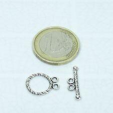 55 Set de Cierres 16mm T292A Plata Tibetana Closures Silver Clasps Bracelet