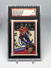 Chris Chelios signed 1984-85 O-Pee-Chee rookie card SGC Auto 10 Slabbed HOF C10