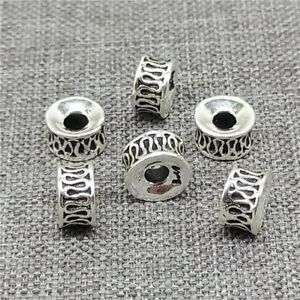 6pcs of 925 Sterling Silver Donut Spacer Beads for Bracelet Necklace