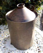 vintage oil can French parrafin tin lamp base vase