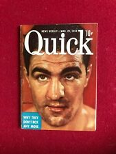 "1953, ROCKY MARCIANO, ""Quick"" Magazine (No Label)  Scarce / Vintage"