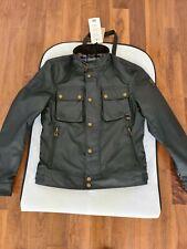 Belstaff Racemaster Black 6oz Waxed Cotton Slim Fit Jacket Sizes M/L...