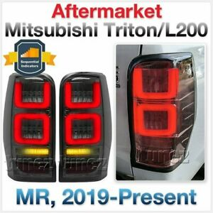 Smoke Full LED Tail Lights Lamp Rear For Mitsubishi Triton MR 2019 2020 2021 AT