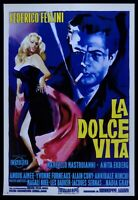 Poster Die Süßes Leben Friedrich Fellini Anita Ekberg Marcello Mastroianni P07