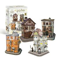 Harry Potter Diagon Alley - Set of 4 Shops - 3D Puzzles with Interior! OFFICIAL
