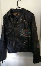 Ed Hardy Men's Leather Jacket size M Worn once!!!