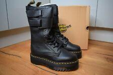DR MARTENS JAGGER Aunt Sally Black Platform Leather Boots UK 3 EU 36 US 5 BNWB