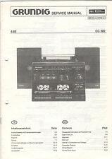 Grundig Service Anleitung Manual CC 200   B850