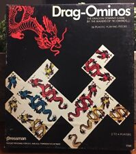 Pressman Drag-Ominos Dragominos Dominos Game Complete in Box Dragons Game 1975