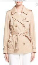 Moncler Authentic Moustelle Ladies Water Resistant Trench Coat Khaki Sz 2 NWT
