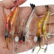 New listing 3PCS Luminous Shrimp Fishing Lure Soft Bait Crankbaits For Saltwater
