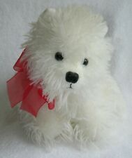 Ty Medium Stuffed Toy West Highland White Terrier Puppy Westie Dog Red Bow Nwot