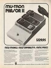 1976 Mu-Tron Phasor II - Vintage Ad