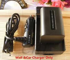 Battery Charger for Sony NP-FP50 Handycam DCR-DVD92E DCR-DVD105 DCR-DVD105E