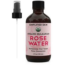 Rose Water for Face & Hair, USDA Certified Organic by Simplified Skin ( 4 oz)