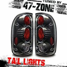 For 2001-04 Toyota Tacoma Altezza Black Housing Clear Lens Tail Lights Pair Set