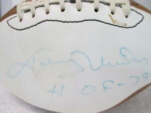 JOHNNY UNITAS AUTOGRAPHED FOOTBALL  - COLTS