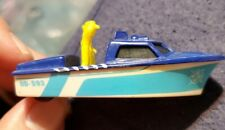 Matchbox Police Launch Boat 0D-593 with Wheels 1976