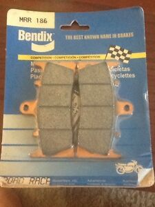 Bendix MRR186 Sintered Road Kawasaki Suzuki Motorcycle Front Brake Pad