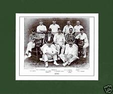 MOUNTED CRICKET TEAM PRINT - KENT - 1895