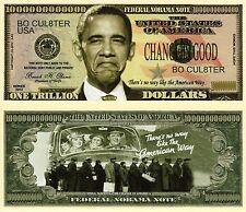 No Obama Trillion Dollar Federal NoObama Novelty Money