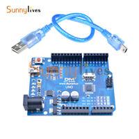 3pcs ATmega328P CH340 Mini USB Board Microcontroller + Cable For Arduino UNO R3