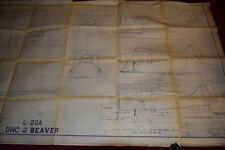 Vintage DeHavilland L-20A DHC 2 Beaver Plan