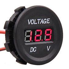 Digital LED Volt Gauge Meter Voltage RED Panel Voltmeter Display DC 12V-24V New