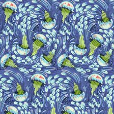 By 1/2 Yard ~ Tula Pink ZUMA ~ Sea Bloom in Aquamarine ~ Free Spirit Fabric