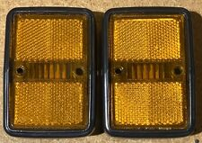 VW TYPE 3 SIDE MARKER ASSEMBLY AMBER YELLOW LENS COMPLETE SOLD EACH