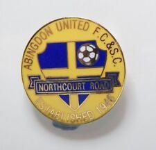 New listing Abingdon United Football Club Enamel Badge - Non League Football Clubs -