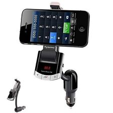 Wireless Bluetooth Car Kit Charger Phone Holder Fm Transmitter Mp3 Player+Remote