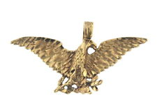 Charming Fine Gold Eagle Pendant/Charm 10k Yellow Gold 1.75 Inch Wide