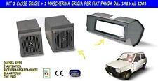 Mascherina autoradio con casse stereo per Fiat Panda 4x4 kit audio impianto con