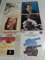 6 TCHAIKOVSKY Vinyl Record LP Lot VG+ SYMPHONY NO 4, 1812, SWAN LAKE CLASSICAL