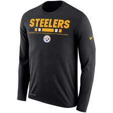Pittsburgh Steelers Sideline Legend Performance Long Sleeve T-Shirt NFL Small