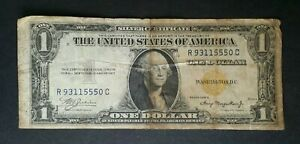 1935 A $1 North Africa WWII Emergency Issue Yellow Seal Silver Certificate