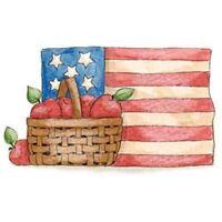 American Flag Shirt - Apples & Basket, Americana, 4th of July, Shirt, Small - 5X