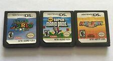 Nintendo DS Super Mario , Mario Party , Super Mario Bros. - 3 Game Cartridges