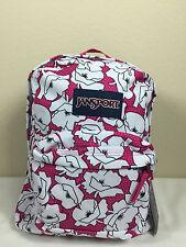 2016 Jansport Superbreak Backpack CYBER PINK BLOCK FLORAL AUTHENTIC School