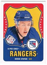 2010-11 O-PEE-CHEE RETRO ROOKIE CARD BLANK BACK #538 DEREK STEPAN !! RARE !!