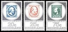 NVPH 886-888 POSTFRIS AMPHILEX TENTOONSTELLING CAT.WRD. 7,50 EURO