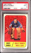 1967 TOPPS BRUCE GAMBLE TORONTO MAPLE LEAFS CARD #18 PSA 9 MINT & WELL CENTERED