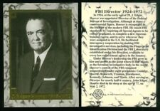 WANTED BY THE FBI (Federal Card Co./1993) RARE FOIL CARD #SP2 J. EDGAR HOOVER