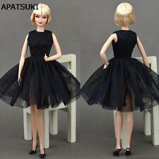 Doll Black Little Dress Dancing Costume Ballet Dress Clothes For Barbie Doll