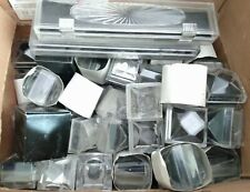 Vintage Large Lot Clear Plastic Lucite Jewelry Display Presentation Boxes
