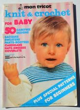 Mon Tricot-Baby - Knit/Crochet Patterns-Sweaters, Booties, Dress, Hat, Afghans